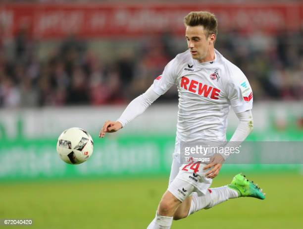Lukas Kluenter controls the ball during the Bundesliga match between 1 FC Koeln and TSG 1899 Hoffenheim at RheinEnergieStadion on April 21 2017 in...