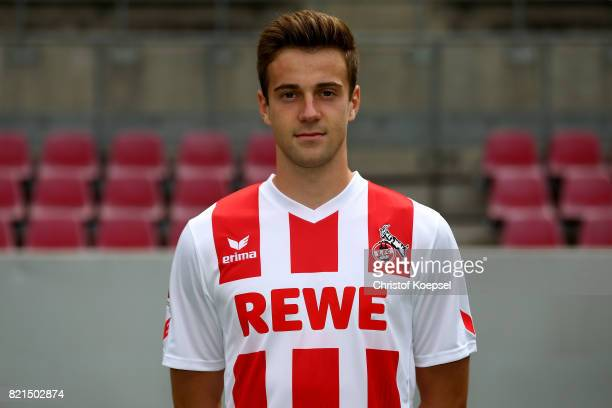 Lukas Kluenter of 1 FC Koeln poses during the team presentation at RheinEnergie Stadion on July 24 2017 in Cologne Germany
