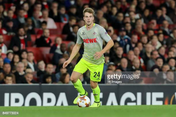 Lukas Kluenter of FC Koeln controls the ball during the UEFA Europa League group H match between Arsenal FC and 1 FC Koeln at Emirates Stadium on...