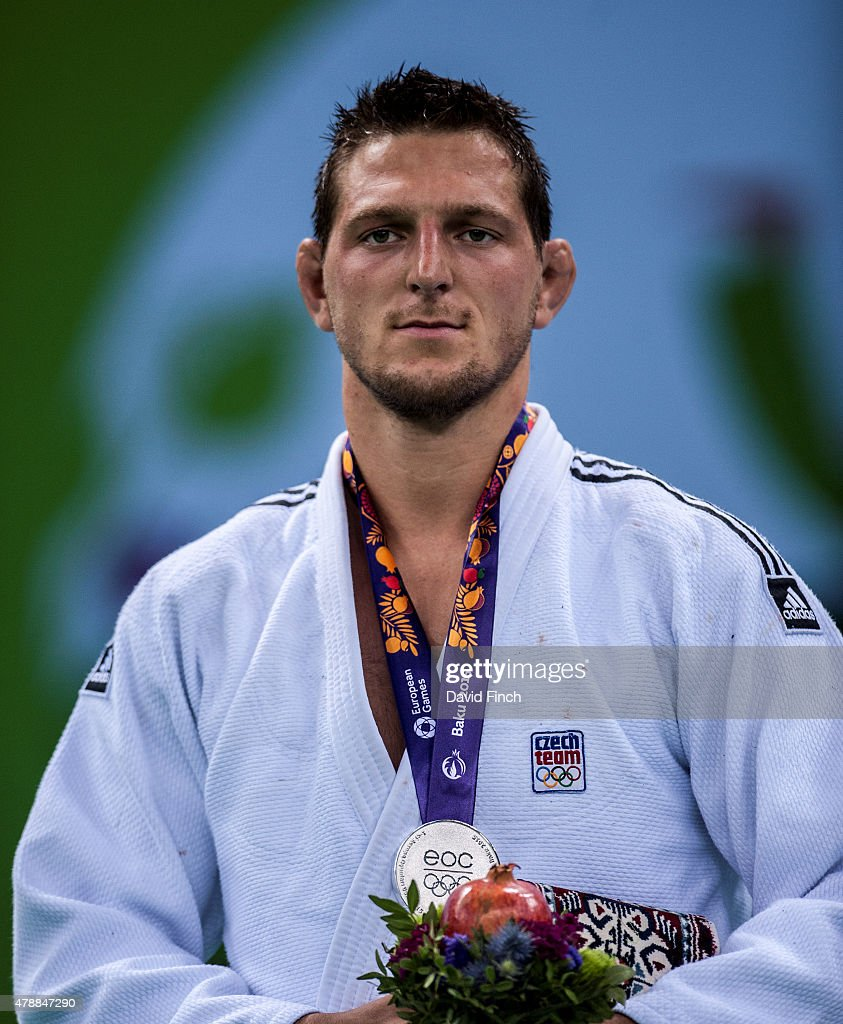 Lukas Krpalek of the Czech Republic won the u100kg silver medal during the 2015 Baku European Judo Championships at the Heydar Aliyev Arena, Baku, Azerbaijan.