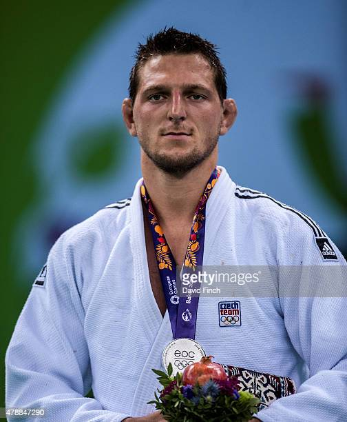 Lukas Krpalek of the Czech Republic won the u100kg silver medal during the 2015 Baku European Judo Championships at the Heydar Aliyev Arena Baku...