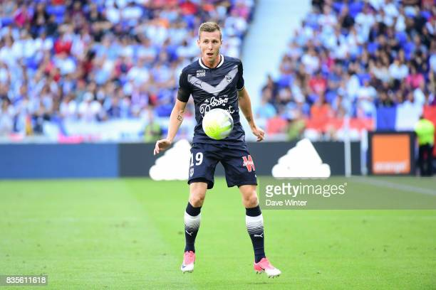 Lukas Lerager of Bordeaux during the Ligue 1 match between Olympique Lyonnais and FC Girondins de Bordeaux at Groupama Stadium on August 19 2017 in...