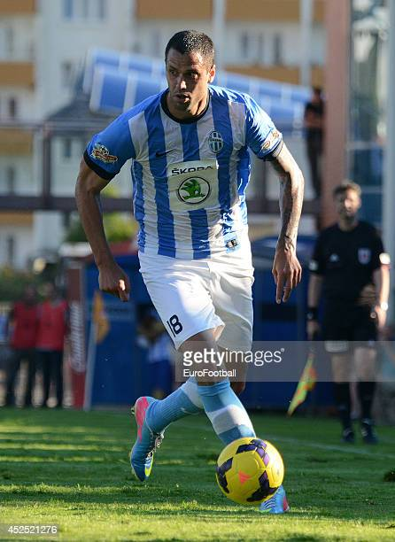 Lukas Magera of FK Mlada Boleslav in action during the Gambrinus Liga match between FK Mlada Boleslav and AC Sparta Prague at the Mestsky Stadion on...