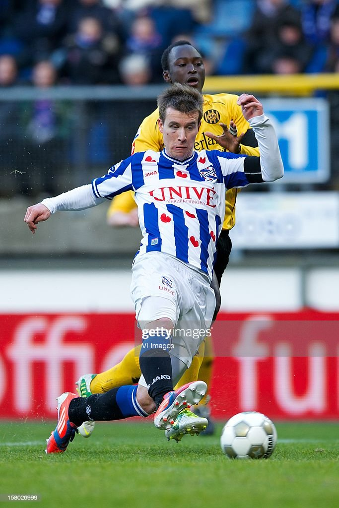 Lukas Marecek of SC Heerenveen, Danilo Pereira of Roda JC Kerkrade during the Dutch Eredivisie match between SC Heerenveen and Roda JC Kerkrade at the Abe Lenstra Stadium on December 09, 2012 in Heerenveen, The Netherlands.
