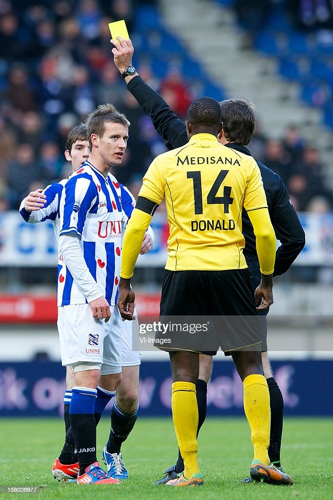 Lukas Marecek of SC Heerenveen, Marten de Roon of SC Heerenveen during the Dutch Eredivisie match between SC Heerenveen and Roda JC Kerkrade at the Abe Lenstra Stadium on December 09, 2012 in Heerenveen, The Netherlands.