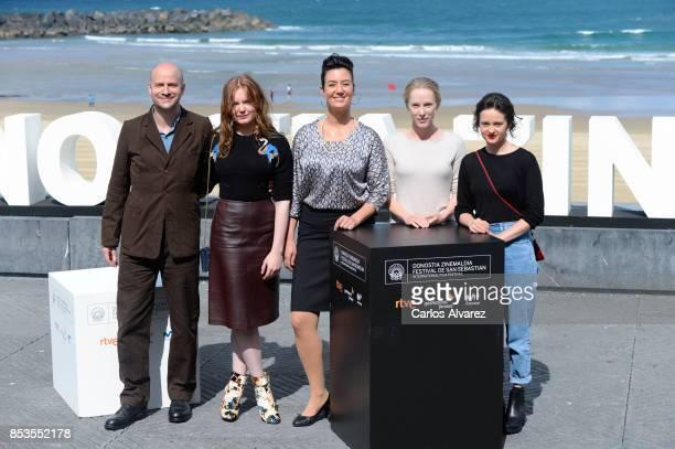 Lukas Miko Maria Dragus Katia Kolm Susanne Wuest Maresi Riegner attend to Licht/Madmoiselle Paradis' Photocall 65th San Sebastian Film Festival on...