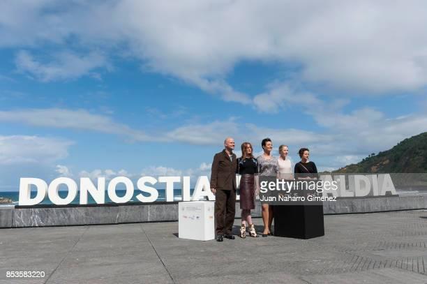 Lukas Miko Maria Dragus Katja Kolm Susanne Wuest and Maresi Riegner attend 'Light' photocall during 65th San Sebastian Film Festival on September 25...