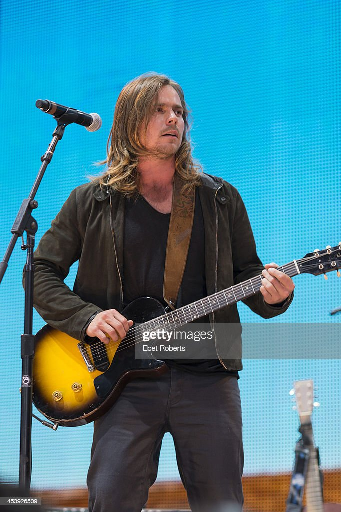 Lukas Nelson Promise of the Real perform during the Farm Aid 2013 finale at the Saratoga Performing Arts Center in Saratoga Springs New York on...