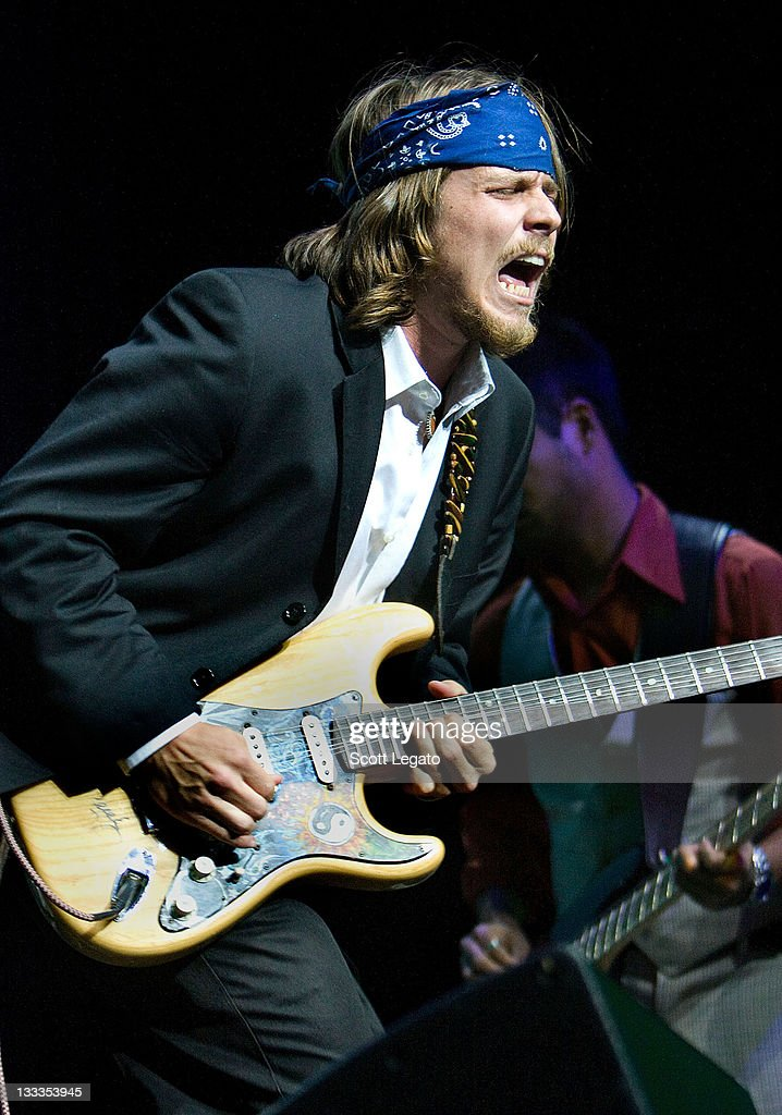 Lukas Nelson son of Willie Nelson performs at the Motor City Casino on October 10 2009 in Detroit Michigan