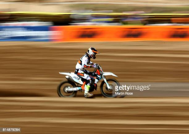 Lukas Neurauter of Austria in action during the International German Motocross Championships on July 15 2017 in Tensfeld Germany