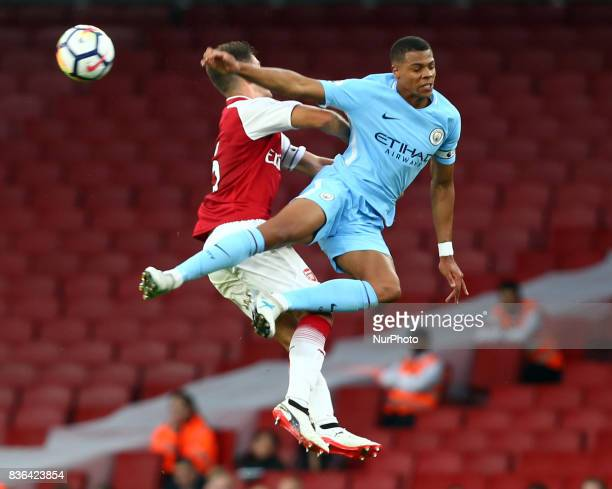 Lukas Nmecha of Manchester City Under 23s during Premier League 2 match between Arsenal Under 23s against Manchester City Under 23s at Emirates...