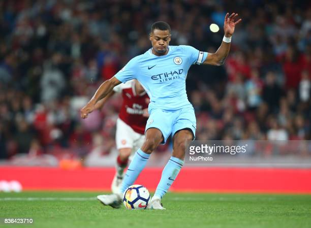 Lukas Nmecha of Manchester City Under 23s scores from the penalty spot during Premier League 2 match between Arsenal Under 23s against Manchester...