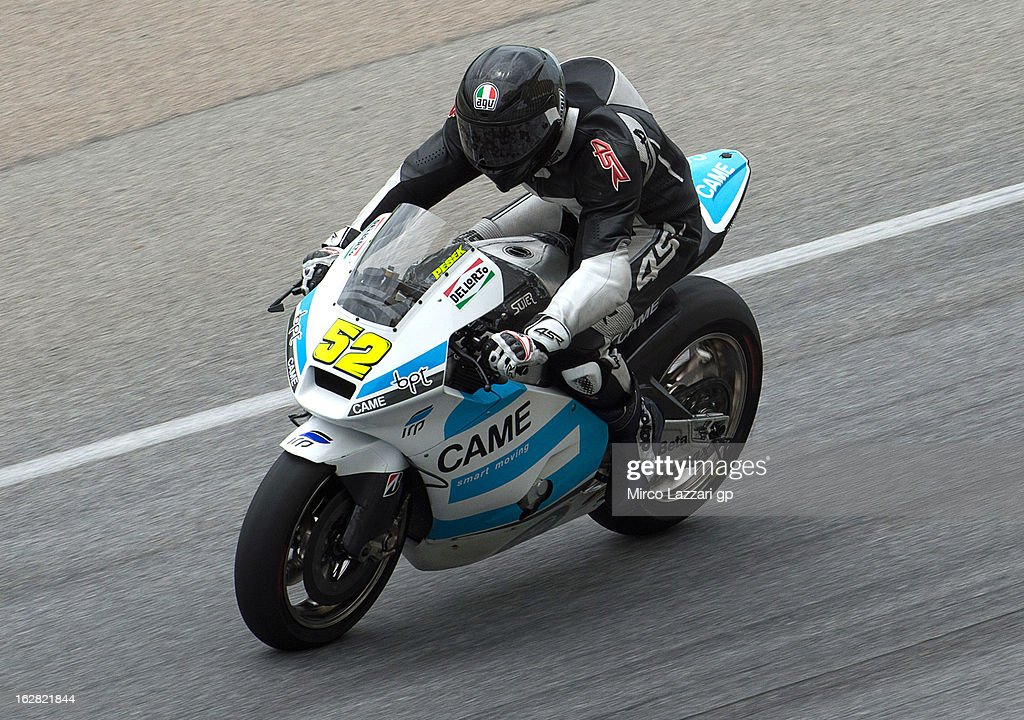 Lukas Pesek of Czech Republic and Came Iodaracing Project heads down a straight during MotoGP Tests in Sepang - Day Three at Sepang Circuit on February 28, 2013 in Kuala Lumpur, Malaysia.