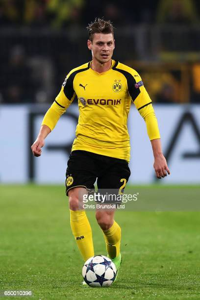 Lukas Piszczek of Borussia Dortmund in action during the UEFA Champions League Round of 16 second leg match between Borussia Dortmund and SL Benfica...