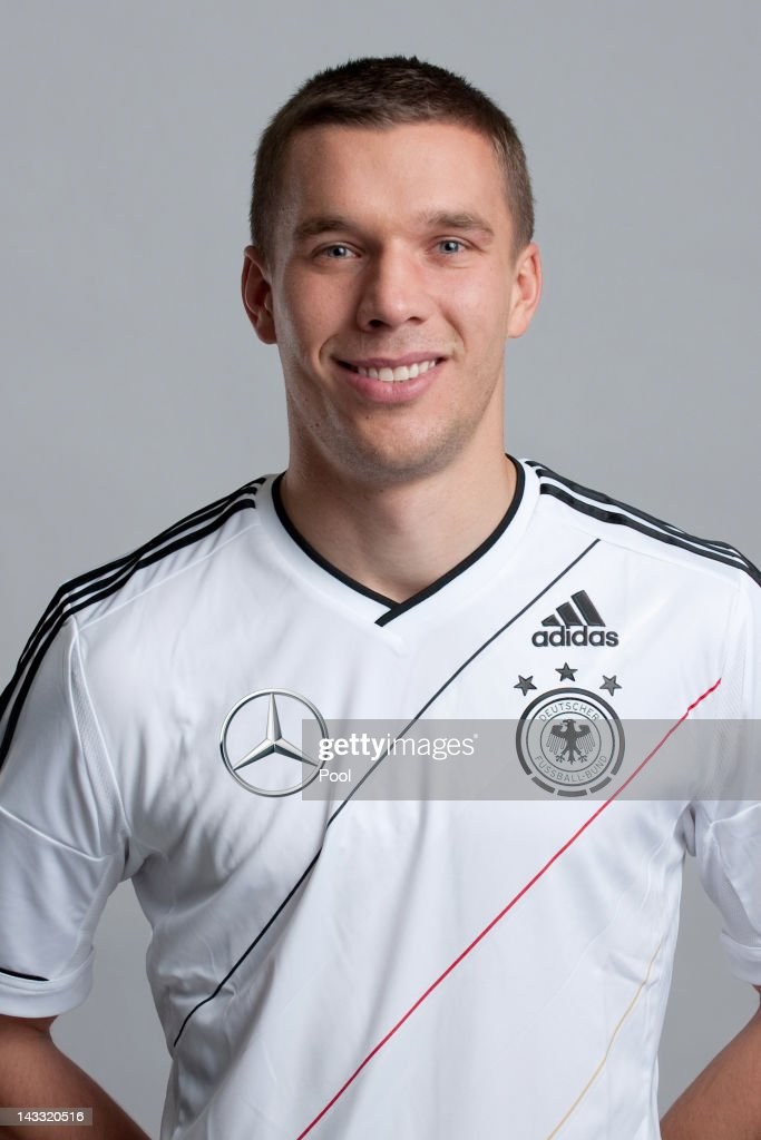 Lukas Podolski of Germany poses during a national team photocall on November 14, 2011 in Hamburg, Germany.