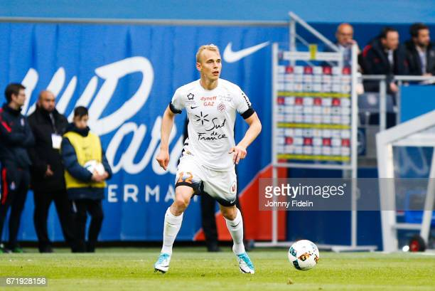 Lukas Pokorny of Montpellier during the French Ligue 1 match between Paris Saint Germain and Montpellier Herault at Parc des Princes on April 22 2017...
