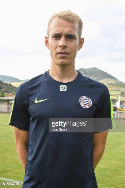 Lukas Pokorny of Montpellier during the friendly match between Montpellier Herault and Clermont foot on July 19 2017 in Millau France