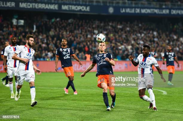 Lukas Pokorny of Montpellier during the Ligue 1 match between Montpellier and Olympique Lyonnais Lyon at Stade de la Mosson on May 14 2017 in...