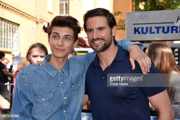 Lukas Rieger and Tom Beck attend the 'Bigfoot Junior' premiere at Kino in der Kulturbrauerei on August 6 2017 in Berlin Germany