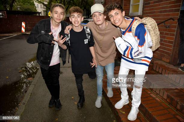 Lukas Rieger US teen star Johnny Orlando and UK teen stars Bars Melody attend the norwegian twin brothers pop duo and teen stars Marcus Martinus...