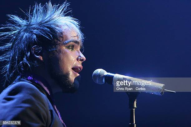 Lukas Rossi winner of the CBS television reality series 'Rock Star Supernova' fronts the band on tour at the Memorial Coliseum in Portland Oregon...