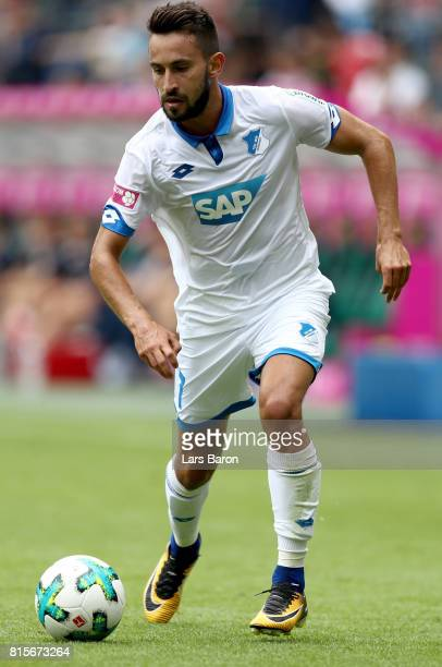 Lukas Rupp of Hoffenheim runs with the ball during the Telekom Cup 2017 match between Bayern Muenchen and 1899 Hoffenheim at on July 15 2017 in...