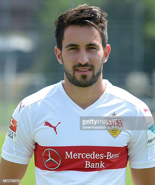 Lukas Rupp poses during the VfB Stuttgart team presentation on July 17 2015 in Stuttgart Germany
