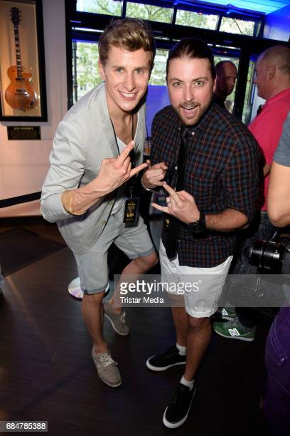 Lukas Sauer and Felix von Jascheroff attend the 25th anniversary celebration at Hard Rock Cafe Berlin on May 18 2017 in Berlin Germany