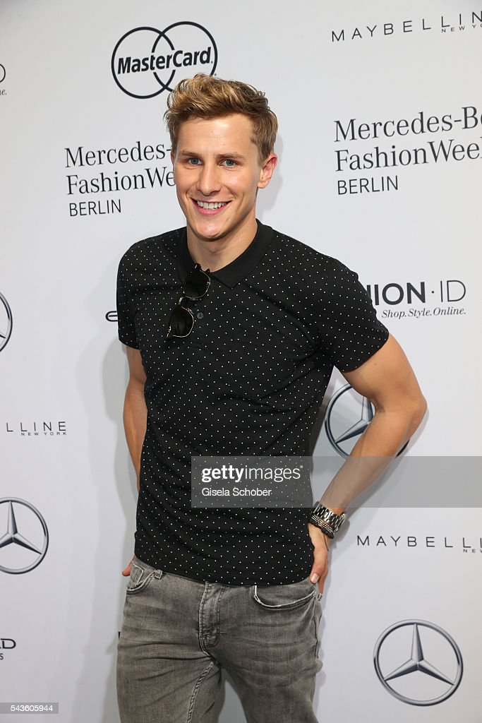 Lukas Sauer attends the Minx by Eva Lutz show during the Mercedes-Benz Fashion Week Berlin Spring/Summer 2017 at Erika Hess Eisstadion on June 29, 2016 in Berlin, Germany.