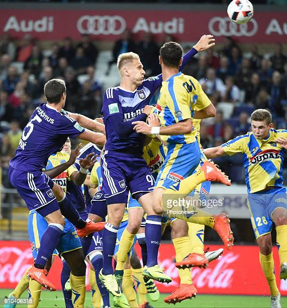 Lukas Teodorczyk forward of RSC Anderlecht pictured during Jupiler Pro League match between RSC Anderlecht and KVC Westerlo on september 25 2016 in...