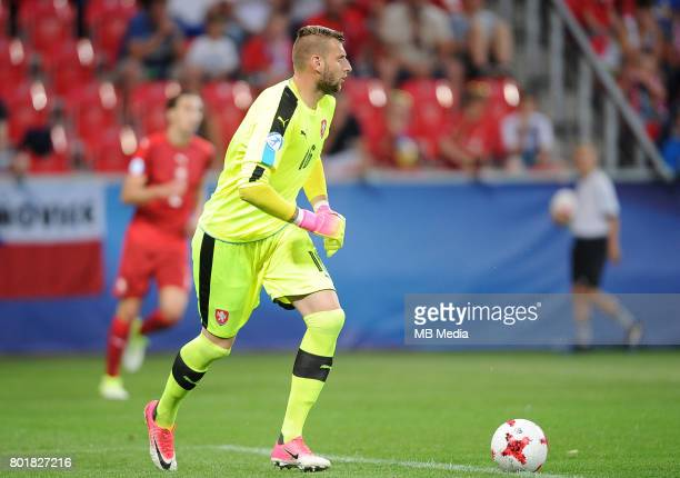 Lukas Zima during the UEFA European Under21 match between Czech Republic and Denmark at Arena Tychy on June 24 2017 in Tychy Poland