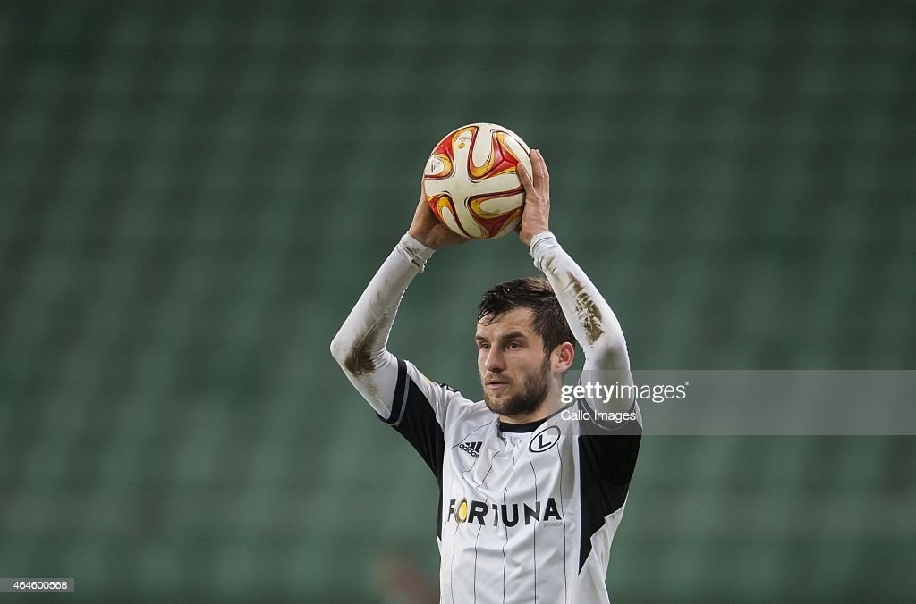 Lukasz Broz during the UEFA Europa League round of 32 match between Legia Warszawa and Ajax Amsterdam at the Polish Army Stadium on February 26 2015...