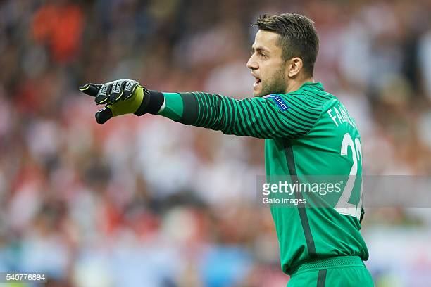 Lukasz Fabianski of Poland shouts during the UEFA Euro 2016 group C match between Poland and Germany at Stade de France on June 16 2016 in Paris...