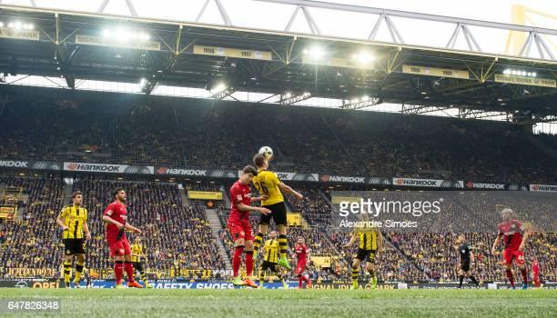 Lukasz Piszczek of Borussia Dortmund in action during the Bundesliga match between Borussia Dortmund and Bayer 04 Leverkusen at Signal Iduna Park on...