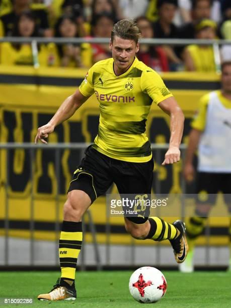 Lukasz Piszczek of Borussia Dortmund in action during the preseason friendly match between Urawa Red Diamonds and Borussia Dortmund at Saitama...