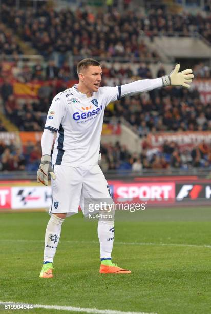 Lukasz Skorupski during the Italian Serie A football match between AS Roma and FC Empoli at the Olympic Stadium in Rome on april 01 2017
