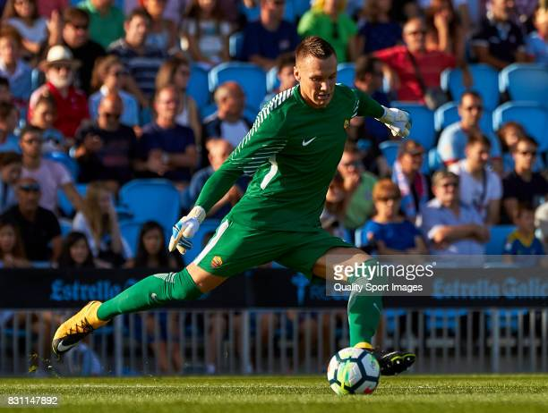 Lukasz Skorupski of AS Roma in action during the preseason friendly match between Celta de Vigo and AS Roma at Balaidos Stadium on August 13 2017 in...