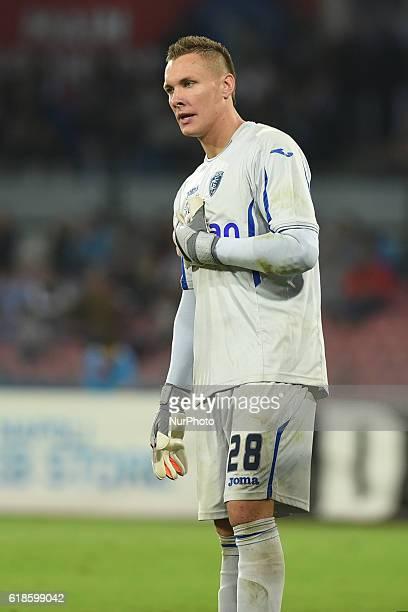 Lukasz Skorupski of Empoli FC during the italian Serie A football match between SSC Napoli and Empoli FC Football / Soccer at San Paolo Stadium on...