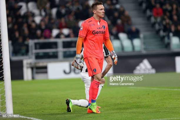 Lukasz Skorupski of Empoli FC during the Serie A football match between Juventus FC and Empoli FC at Juventus Stadium Juventus FC wins 20 over Empoli