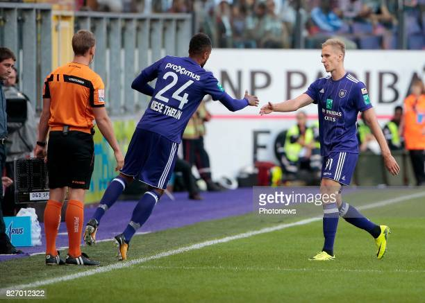 Lukasz Teodorczyk forward of RSC Anderlecht during the Jupiler Pro League match between RSC Anderlecht and Kv Oostende on august 06 2017 in...