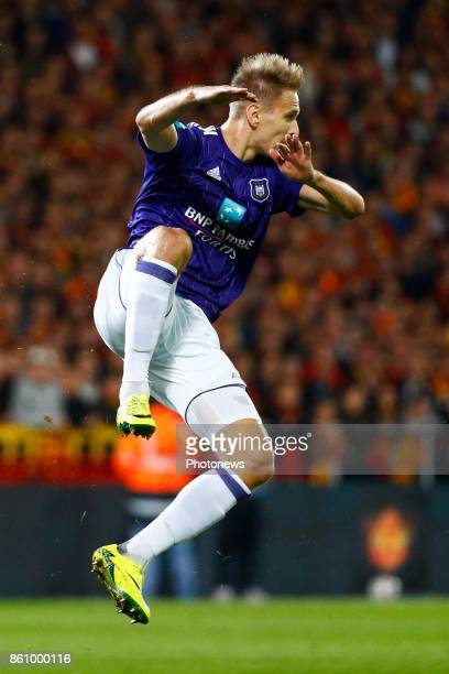 Lukasz Teodorczyk forward of RSC Anderlecht pictured during the Jupiler Pro League match between Kv Mechelen and Rsc Anderlecht in Mechelen