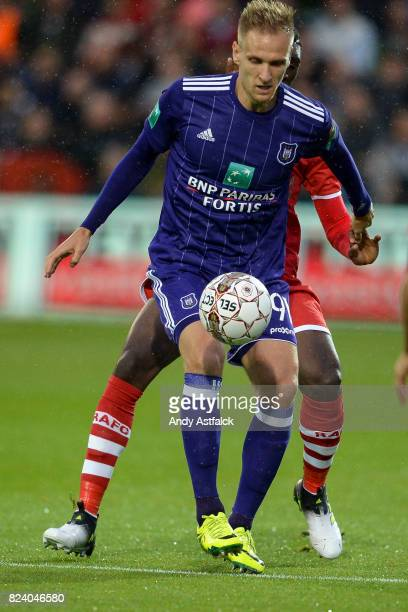 ANTWERP BELGIUM JULY Lukasz Teodorczyk from Anderlecht during the Jupiler League match between Royal Antwerp and RSC Anderlecht at Bosuil Stadium on...
