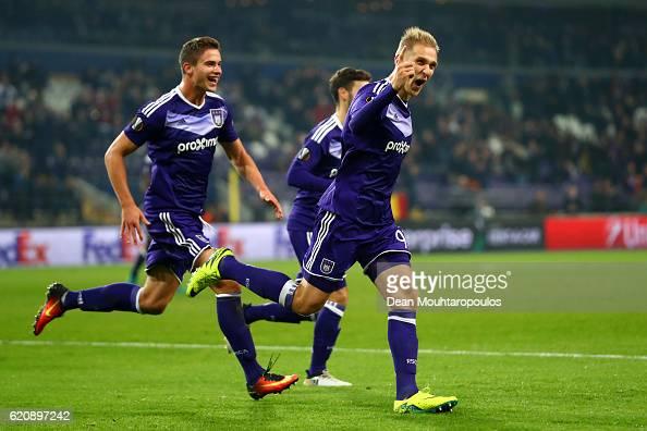 RSC Anderlecht v 1. FSV Mainz 05 - UEFA Europa League : News Photo
