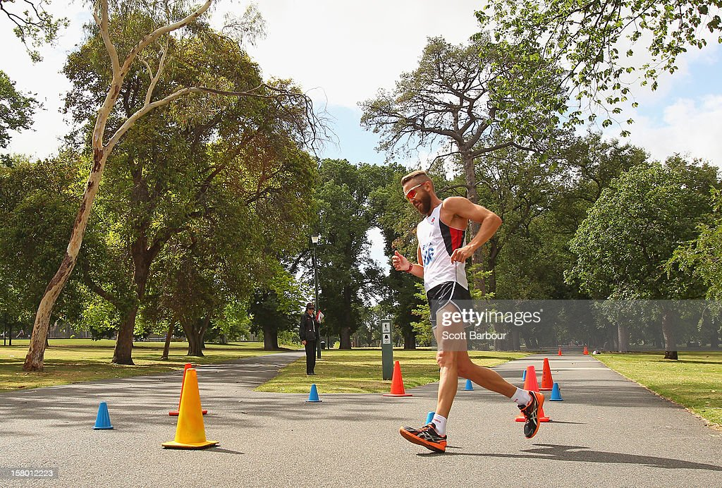 <a gi-track='captionPersonalityLinkClicked' href=/galleries/search?phrase=Luke+Adams&family=editorial&specificpeople=200711 ng-click='$event.stopPropagation()'>Luke Adams</a> of New South Wales competes in the Mens 50000 metre Race Walk Championship Open during the 50km race walking championships at Fawkner Park on December 9, 2012 in Melbourne, Australia.