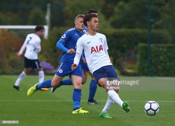 Luke Amos of Tottenham Hotspur Under 23s during Premier League 2 Div 1 match between Tottenham Hotspur Under 23s against Leicester City Under 23s at...