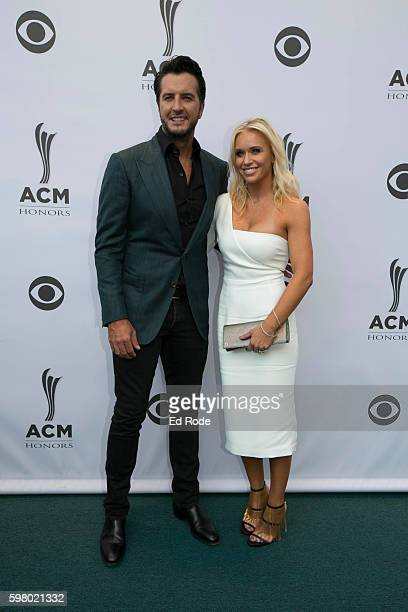 Luke and Caroline Bryan attend the 10th Annual ACM Honors at the Ryman Auditorium on August 30 2016 in Nashville Tennessee
