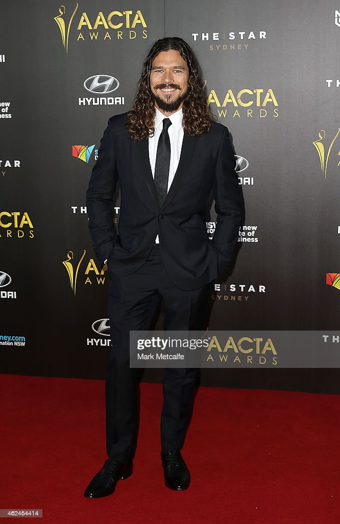 <a gi-track='captionPersonalityLinkClicked' href=/galleries/search?phrase=Luke+Arnold&family=editorial&specificpeople=5991385 ng-click='$event.stopPropagation()'>Luke Arnold</a> arrives at the 4th AACTA Awards Ceremony at The Star on January 29, 2015 in Sydney, Australia.