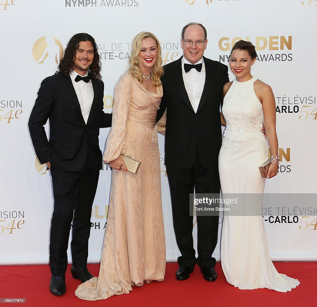 <a gi-track='captionPersonalityLinkClicked' href=/galleries/search?phrase=Luke+Arnold&family=editorial&specificpeople=5991385 ng-click='$event.stopPropagation()'>Luke Arnold</a>, <a gi-track='captionPersonalityLinkClicked' href=/galleries/search?phrase=Hannah+New&family=editorial&specificpeople=8671957 ng-click='$event.stopPropagation()'>Hannah New</a>, <a gi-track='captionPersonalityLinkClicked' href=/galleries/search?phrase=Prince+Albert+II+of+Monaco&family=editorial&specificpeople=201707 ng-click='$event.stopPropagation()'>Prince Albert II of Monaco</a> and <a gi-track='captionPersonalityLinkClicked' href=/galleries/search?phrase=Jessica+Parker+Kennedy&family=editorial&specificpeople=6964331 ng-click='$event.stopPropagation()'>Jessica Parker Kennedy</a> attends the Closing Ceremony and Golden Nymph Awards of the 54th Monte Carlo TV Festival on June 11, 2014 in Monte-Carlo, Monaco.