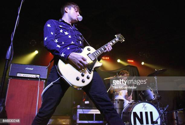 Luke Bentham of The Dirty Nil performs in support of the band's 'Minimum RB' release at Ace of Spades on September 12 2017 in Sacramento California
