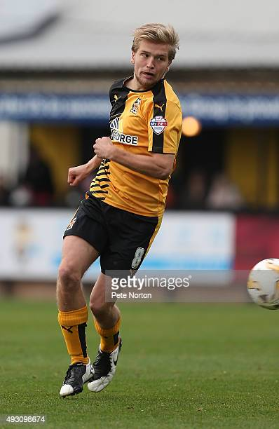 Luke Berry of Cambridge United in action during the Sky Bet League Two match between Cambridge United and Northampton Town at Abbey Stadium on...